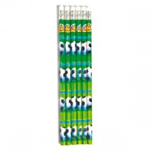 Set of 6 Football Pencils with Eraser Party Bag Filler