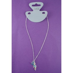 Enamel Fairy Pendant Necklace