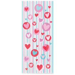 Love Heart And Stripes Party Bags