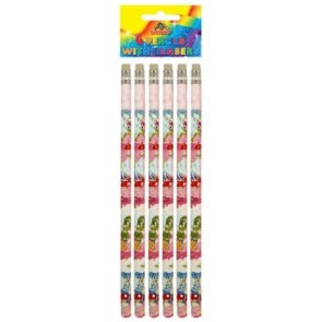 Fairy Pencil With Eraser - Pack Of 6 Party Bag Filler