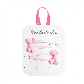 Pink Cute Bow Clips - Rockahula
