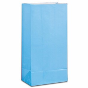 Paper Party bags - Light Blue - pack of 12