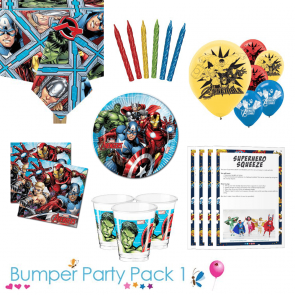Avengers party tableware bumper pack