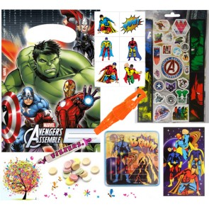 Marvel Avengers pre filled party bag - contents