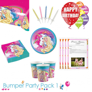 Barbie Dreamtopia party tableware bumper pack 1