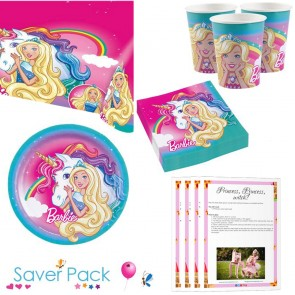 Barbie Dreamtopia Party Tableware saver pack