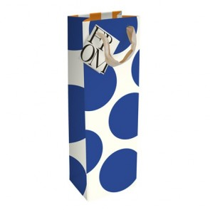 Caroline Gardner Large Blue Spot Bottle Bag