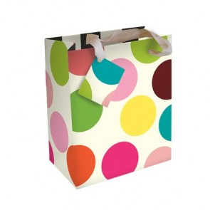 Caroline Gardner Multi Dot Small Gift Bag