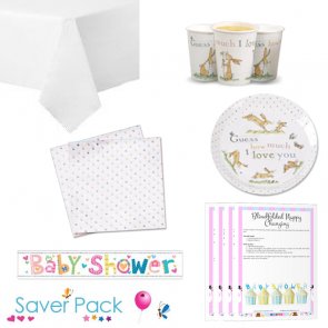 Guess How Much I Love You Baby Shower Party Tableware Saver Pack