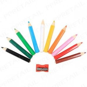 Half Size Colouring Pencils and Sharpener
