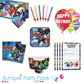 Justice League Bumper Party Tableware Pack