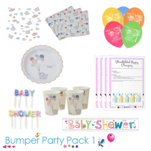 Little One Baby Shower Party Tableware Bumper Pack 1
