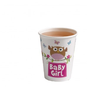Little Owl Baby Girl Party Cups