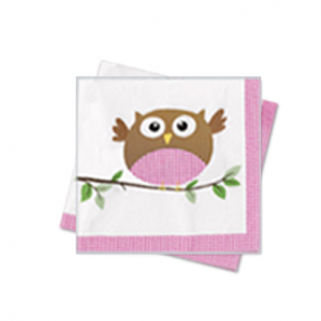 Little Owl Girl Party Napkins