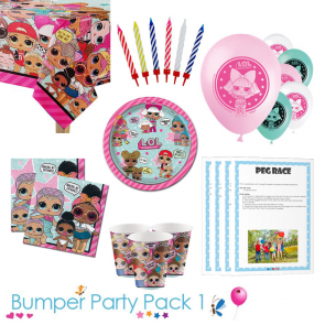 LOL Surprise Party Tableware Bumper Pack for 8, 16, 24 and 32 Guests