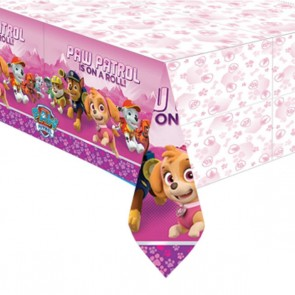Girls Pink Paw Patrol Party Tablecover