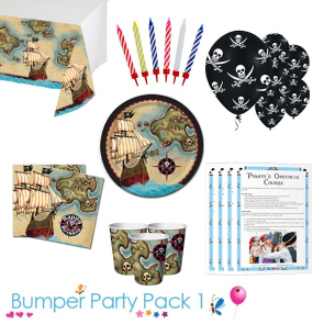 Pirate's Map Party Tableware Bumper Pack