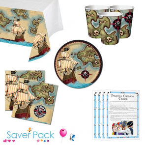 Pirate's Map Party Tableware Saver Pack