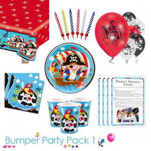Captain Pirate Party Tableware Bumper Pack for 8, 16, 24 and 32 Guests