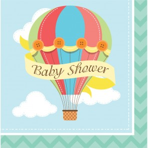 Up Up and Away Baby Shower Party Napkins